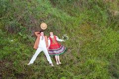 Молодой человек и женщина. Стоковая Фотография RF