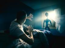 Молодой человек получая похищенный стоковые фото