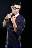 Молодой человек сексуального способа стильный стоковая фотография rf