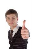 Молодой человек с большим пальцем руки вверх Стоковое Изображение