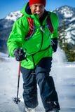 Молодой чернокожий человек в зиме Стоковая Фотография RF