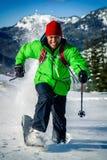 Молодой чернокожий человек в зиме Стоковое фото RF