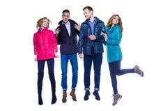 Молодость в куртках стоковое изображение rf