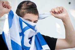 молодость поселенца флага израильская еврейская Стоковые Фото