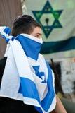 молодость поселенца флага израильская еврейская Стоковое Фото