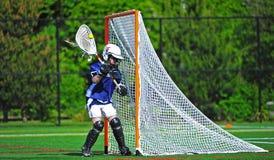молодость lacrosse вратаря девушок Стоковая Фотография