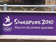молодость singapore 2010 Олимпиад Стоковые Изображения RF