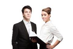 Молодые бизнесмены имея обсуждение Стоковая Фотография RF
