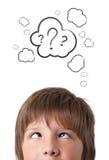 Молодые головные смотря белые метки Стоковые Изображения RF