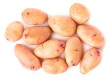 Молодые картошки на белизне, взгляд сверху изолировано Стоковая Фотография RF