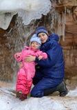 Молодые красивые женщина и маленькая девочка стоковая фотография rf