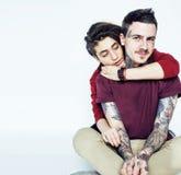 Молодые милые пары совместно, концепция людей образа жизни, boyfrien стоковое изображение