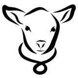 Молодые овечка или икра, логотип иллюстрация вектора