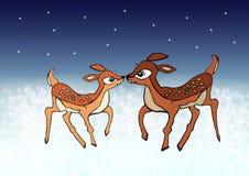 Молодые олени рождества иллюстрация вектора