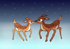 Молодые олени рождества бесплатная иллюстрация