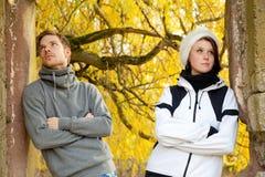 Молодые пары в тревоге Стоковая Фотография