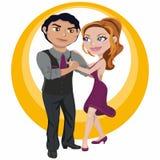 Молодые пары танцы Стоковые Фото