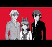 Молодые шаржи manga друзей бесплатная иллюстрация