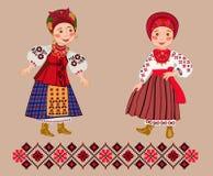 2 молодых украинца показывают одевают Стоковые Фотографии RF