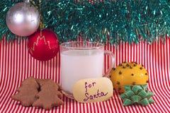 Молоко для Санты на Рожденственской ночи Стоковое Изображение RF
