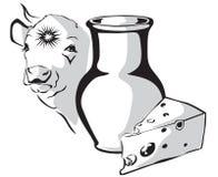 молоко коровы Бесплатная Иллюстрация