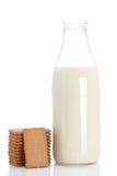 молоко печений бутылки Стоковые Фотографии RF