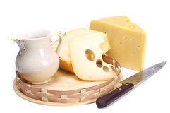 молоко сыра Стоковые Фотографии RF