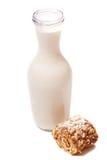 молоко торта бутылки Стоковые Фото