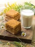 молоко торта Стоковое Изображение RF