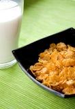 молоко хлопий для завтрака здоровое Стоковая Фотография RF