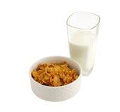 молоко хлопий для завтрака здоровое Стоковые Изображения