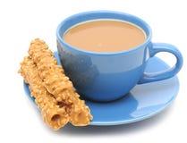 молоко чашки печений кофе Стоковая Фотография RF