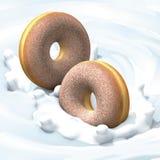 молоко donuts Стоковые Изображения RF