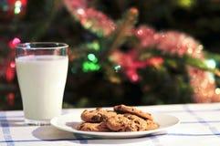 молоко santa печений Стоковые Изображения