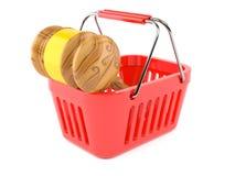 Молоток внутри корзины для товаров иллюстрация штока