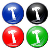 молоток кнопки бесплатная иллюстрация