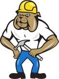 Молоток рабочий-строителя бульдога бесплатная иллюстрация