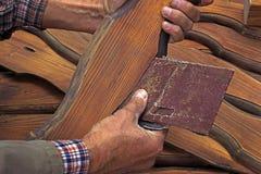 Молоть деревянных деталей Стоковое Фото