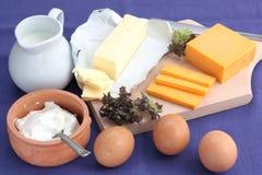 молочные продучты стоковая фотография rf