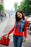 Молодая азиатская женщина Стоковое Изображение