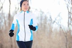 Молодая азиатская женщина jogging Стоковая Фотография RF