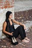 Молодая женская модель Стоковые Изображения RF