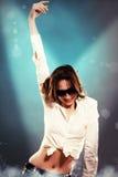Молодая женщина танцы Стоковые Фотографии RF