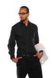 Молодой бизнесмен американца Africna Стоковые Изображения RF