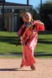 Молодой женский танцор обруча Стоковые Изображения RF