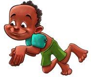 Молодой мальчик заплывания Стоковое Изображение RF