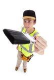 Молодой мужчина с paintbrush Стоковое Фото