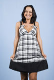 молодость лета платья женская модельная Стоковые Фотографии RF