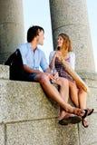 Молодые счастливые пары Стоковое Изображение RF