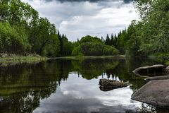 Молчаливая достигаемость на область реке Kulenga, Иркутске стоковое изображение